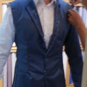 close up of business man shopping in a mall